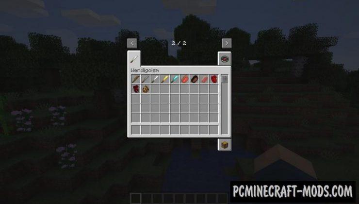 Wendigoism - Survival Tweak Mod Minecraft 1.16.5, 1.14.4