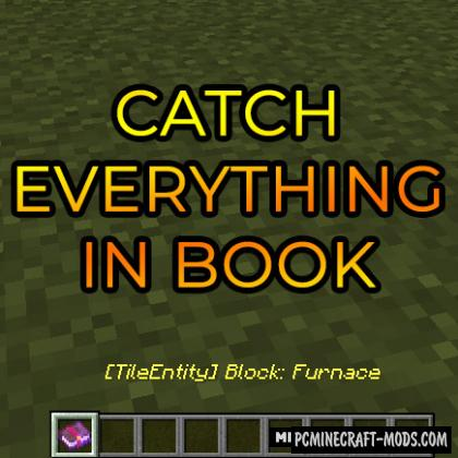 Catch Everything In Book - Tweak Mod For MC 1.15.2, 1.14.4