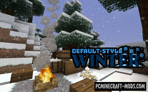 Default-Style Winter 16x Resource Pack For Minecraft 1.14.4