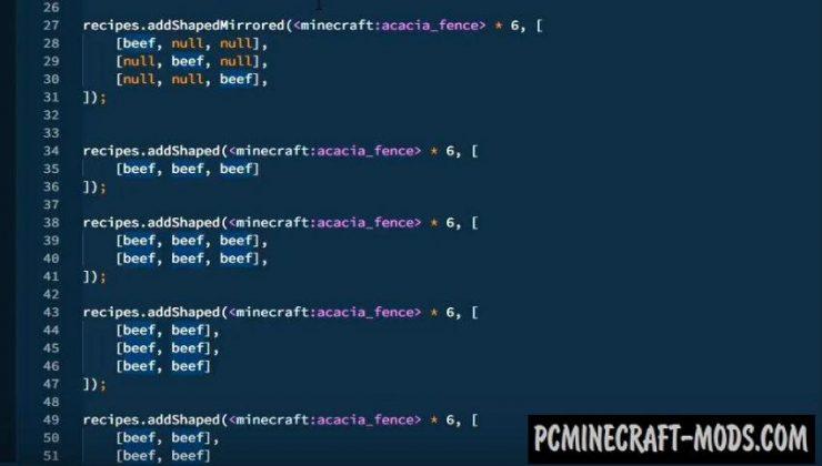 CraftTweaker 2 - Modpack Creator GUI Mod MC 1.16.5, 1.16.4