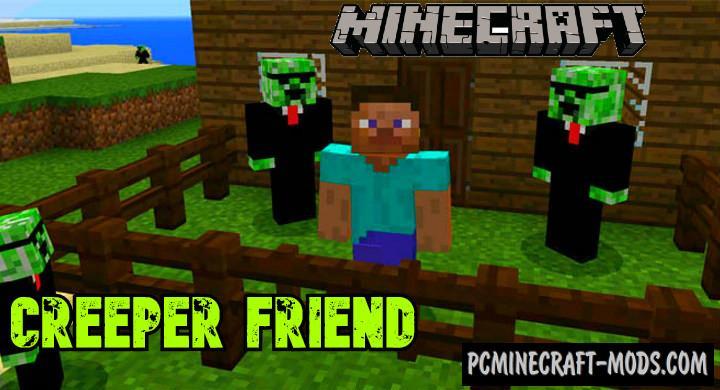 Friend Creeper Addon For Minecraft PE 1.16.0, 1.14