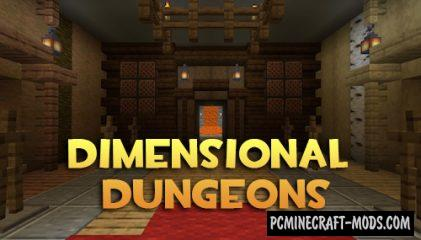 Dimensional Dungeons - Dimensions Mod MC 1.17.1, 1.16.5, 1.15.2, 1.14.4