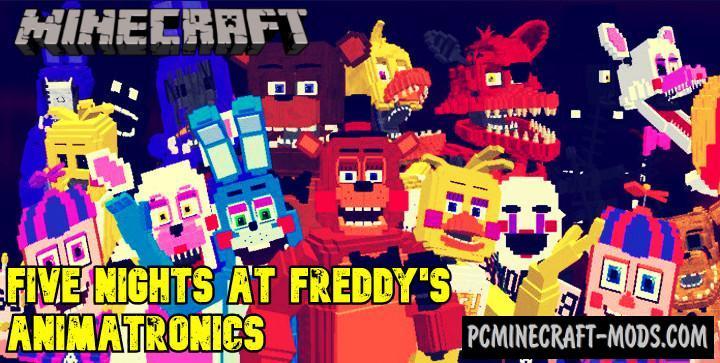 FNAF 2 Animatronics Addon For Minecraft PE 1.17, 1.16
