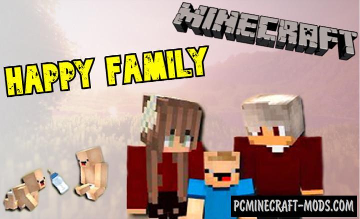 Happy Family v1.0.3 Addon For Minecraft PE 1.17.0, 1.16.221