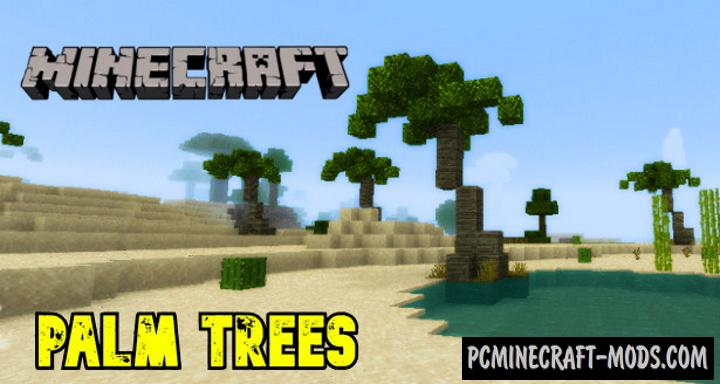 Palm Trees Addon For Minecraft PE 1.17.0, 1.16.221