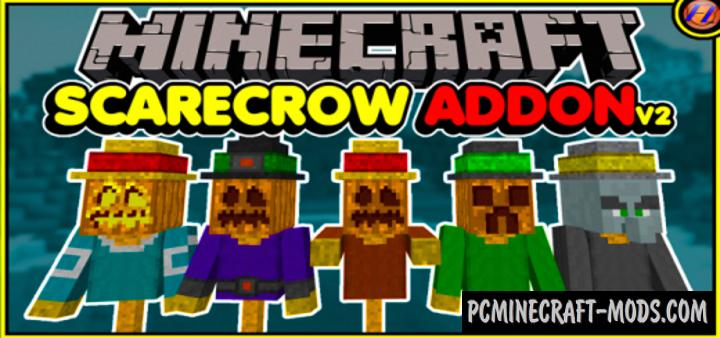 Scarecrow Addon For Minecraft PE 1.14.0, 1.13.0