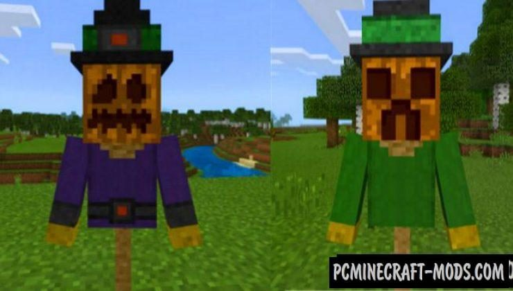 Scarecrow Addon For Minecraft PE 1.17.0, 1.16.221