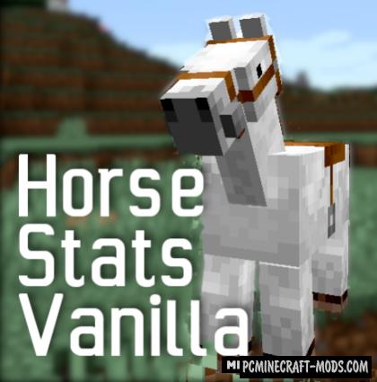 HorseStatsVanilla - Info HUD Mod For MC 1.16.5, 1.16.4, 1.14.4