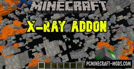 X-Ray Texture Pack - Addon For MCPE 1.16, 1.14 iOS/Android