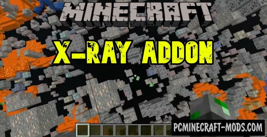 X-Ray Texture Pack - Addon For MCPE 1.17, 1.16 iOS/Android