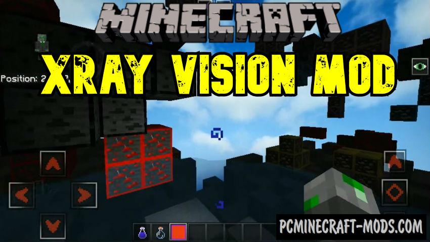 Xray Vision Texture Pack - Mod for Minecraft PE 1.16, 1.14
