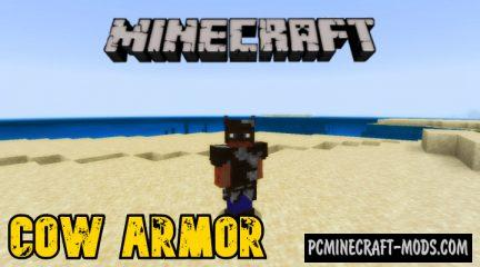 Cow Armor Addon For Minecraft Bedrock 1.14.0, 1.13.1