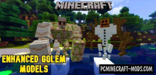 Enhanced Golem Models Addon MCPE Bedrock 1.14, 1.13