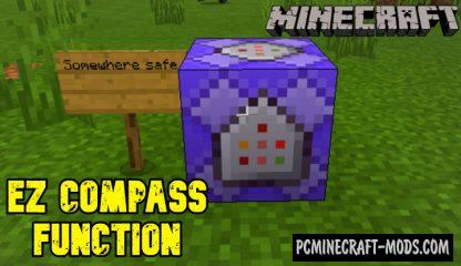 EZ Compass Function Addon For Minecraft PE 1.14.0, 1.13.1