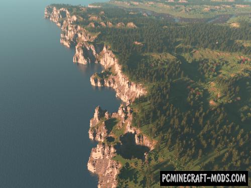 Northumbrian Coastline - Terrain Map For Minecraft