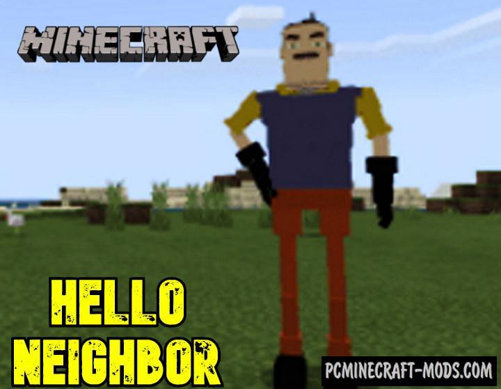 Hello Neighbor Mod For Minecraft PE 1.17, 1.16 iOS, Android