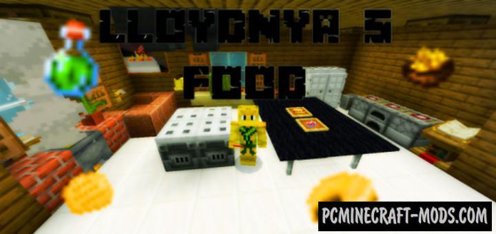 LloydNya's Food Addon For Minecraft PE 1.17, 1.16 iOS/Android