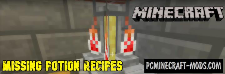 Missing Potion Recipes Addon For Minecraft PE 1.16.0, 1.14