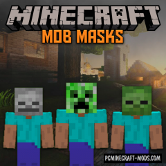 Mob Masks Addon For Minecraft Bedrock 1.14, 1.13