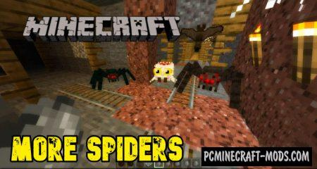 More Spiders Mod For Minecraft 1.14, 1.13.1 iOS/Android