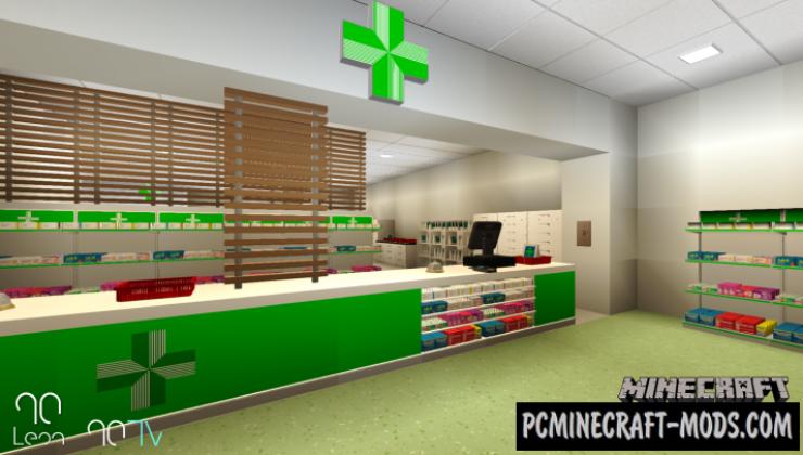 Hospital - Pharmacy Pack Mod For Minecraft 1.14.4, 1.12.2
