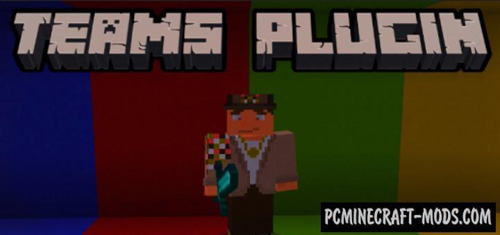 Teams Plugin Mod For Minecraft Bedrock 1.17.0, 1.16.221