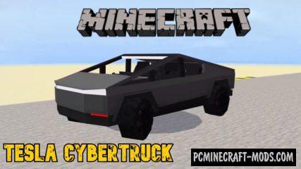 Tesla CyberTruck Addon For Minecraft PE 1.14, 1.13