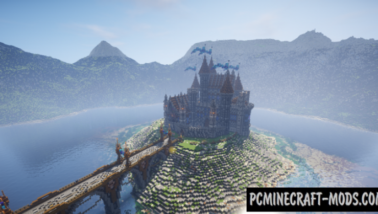 Blue Diamond - Castle Map For Minecraft