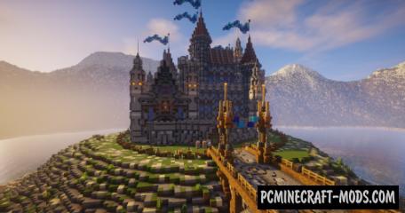 Blue Diamond - Castle Map For Minecraft