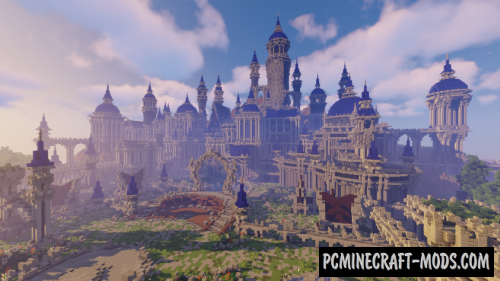 Server Hub - Castle Map For Minecraft