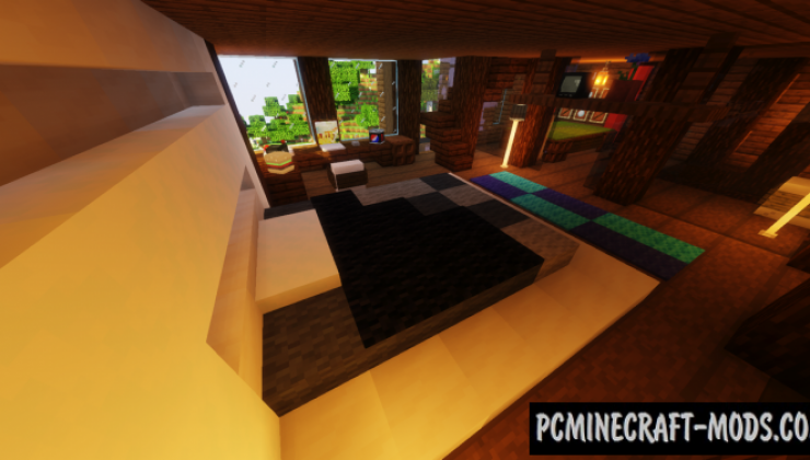 Modern Cliff-side - Mansion Map For Minecraft
