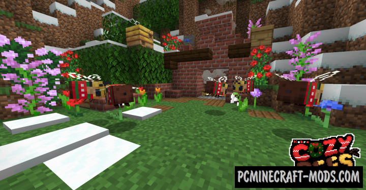 Cozy Bees! 16x Resource Pack For Minecraft 1.15.1, 1.15