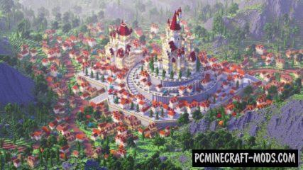 Beautiful Kingdom - Castle Map For Minecraft