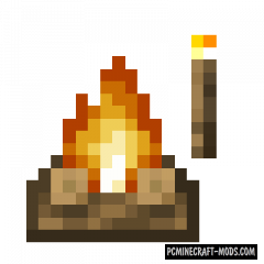 Campfire Torches - Tweak Mod For MC 1.16.5, 1.14.4