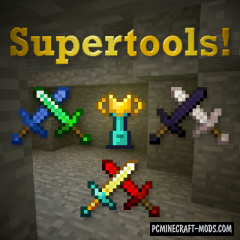 SuperTools - Armor, Tools Mod For MC 1.15.1, 1.15, 1.14.4