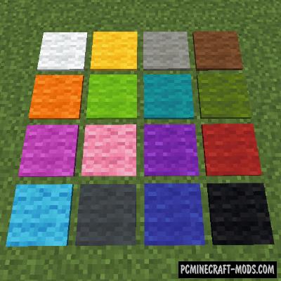 Wool Pressure Plates - Decor Mod For Minecraft 1.16.5, 1.16.4