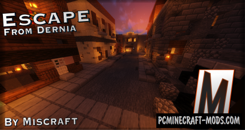 Escape from Dernia - Escape Map For Minecraft
