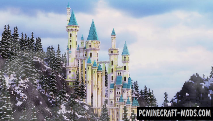Snowfall - Castle Map For Minecraft