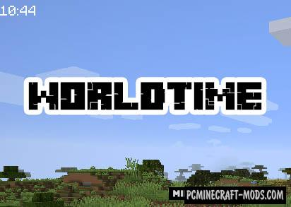 WorldTime - HUD Mod For Minecraft 1.15.1, 1.14.4