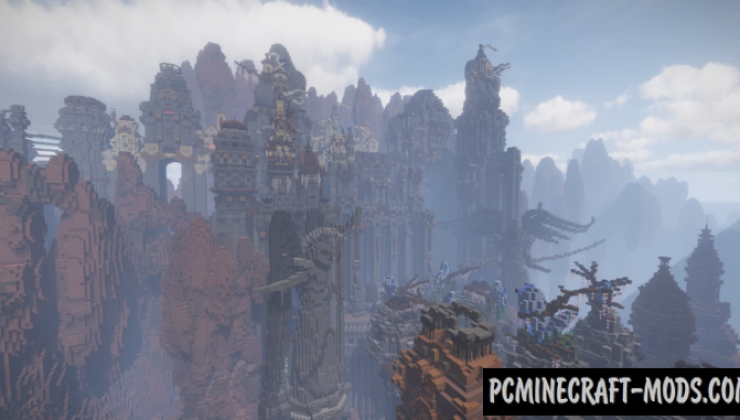 God Valley - City Map For Minecraft