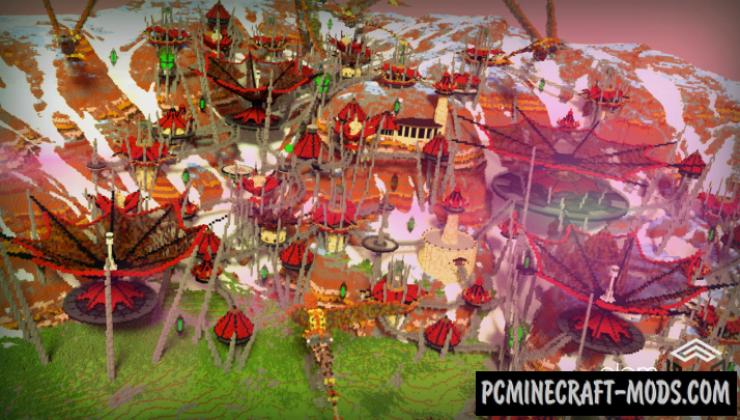 Lycrān Colony - Adventure Map For Minecraft