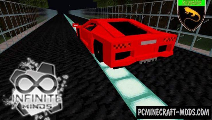 Lamborghini Aventador Addon Minecraft PE 1.17, 1.16