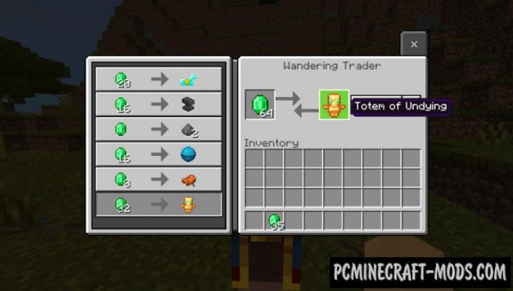 Better Wandering Trader Addon For Minecraft PE 1.17, 1.16