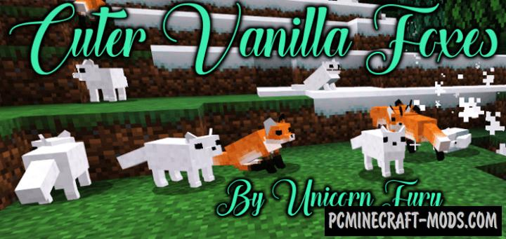 Cuter Vanilla Foxes Addon For Minecraft Bedrock 1.16, 1.14