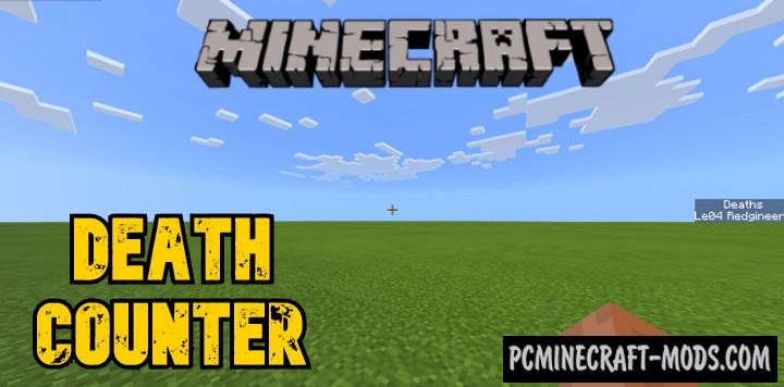 Death Counter Addon For Minecraft 1.17, 1.16 iOS-Android