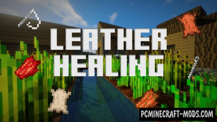 Leather Healing Addon For Minecraft PE 1.16, 1.14