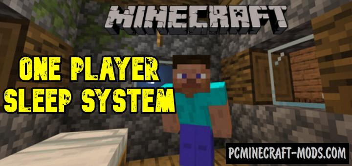 One Player Sleep System for Muliplayer MCPE Addon 1.17, 1.16