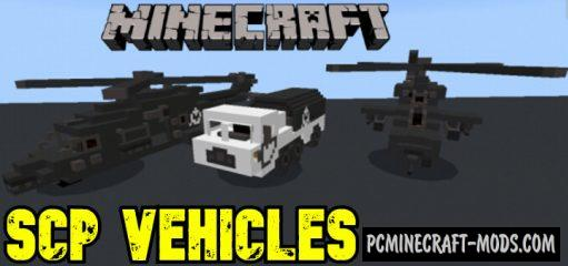 SCP Vehicles Addon For Minecraft Bedrock 1.14, 1.13 iOS, Android