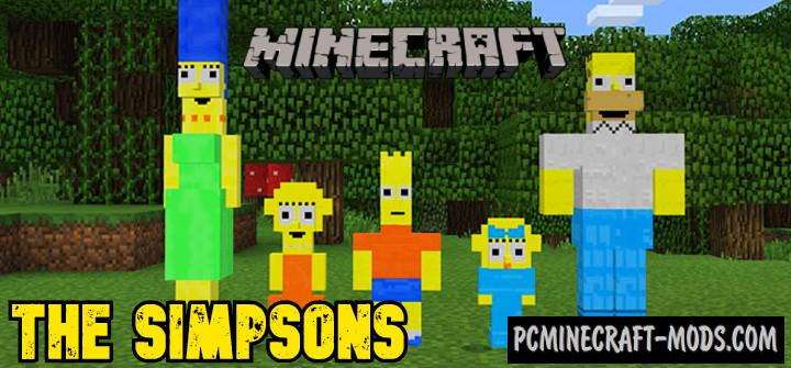 Simpsons Addon For Minecraft 1.17, 1.16 iOS/Android