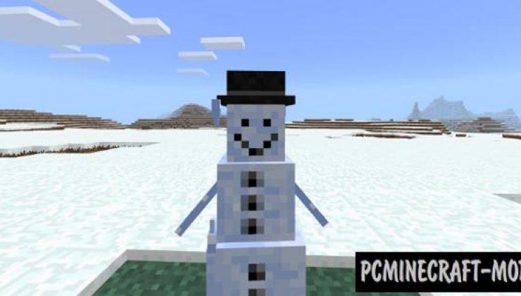 Snowman - Mob Addon, Mod For Minecraft 1.17, 1.16
